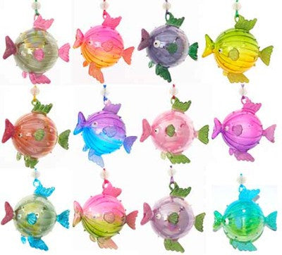 Glass Puffer Fish Ornaments