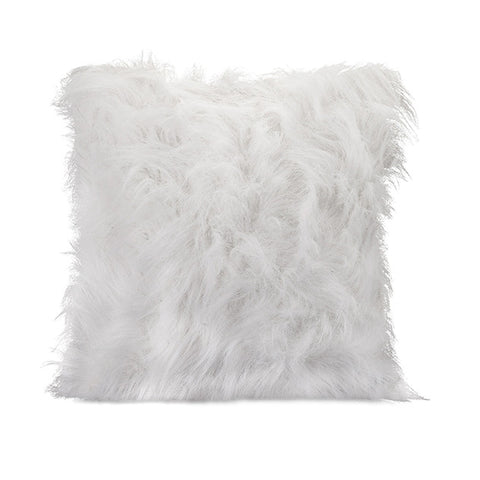 Nikki Chu Pillow White Fur