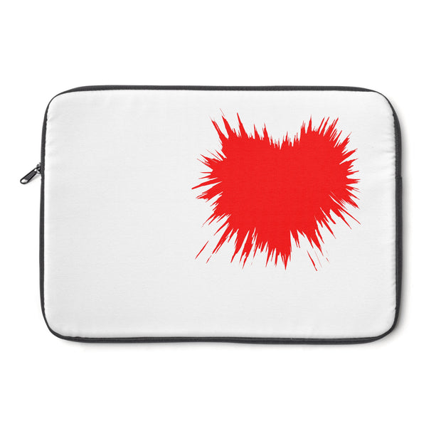 A Heart Splattered Laptop Sleeve