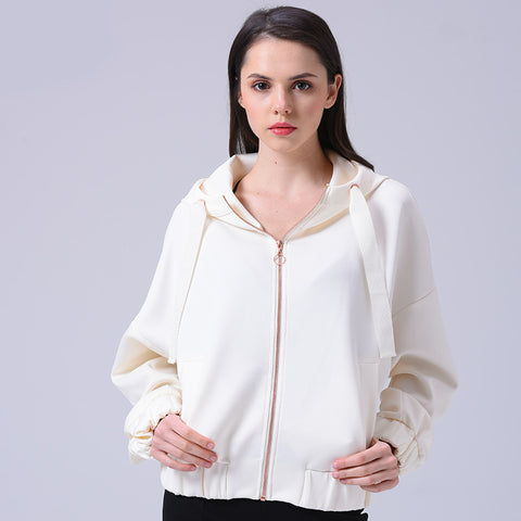 Women's  Zipper Jacket Streetwear Veste Windbreaker