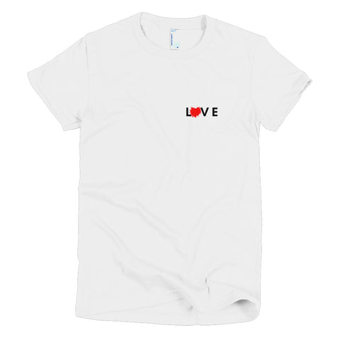 Splattered Love  Women T-Shirt