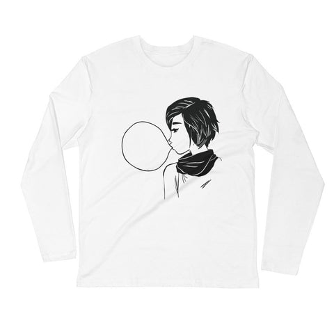 Bubblegum - Long Sleeve Fitted Crew - DrawnByB