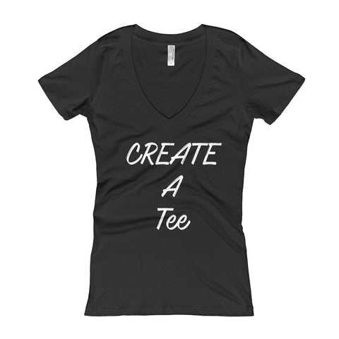 Create Your Own Tee - Women's V-Neck T-shirt - DrawnByB