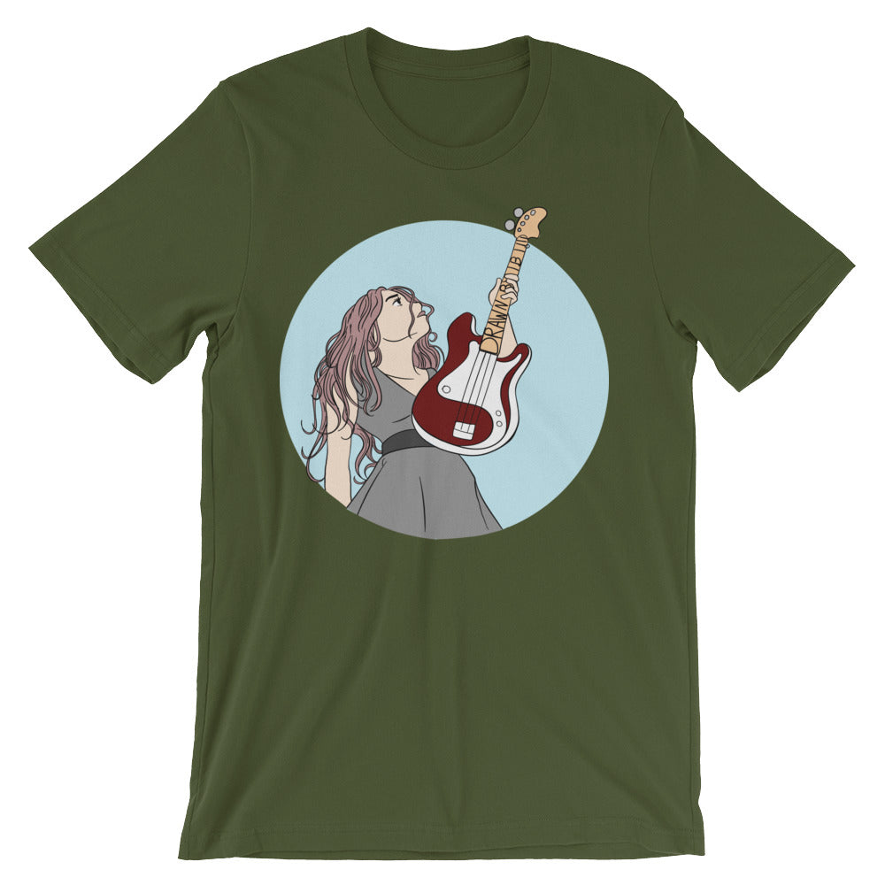 Guitar Girl Unisex short sleeve t-shirt
