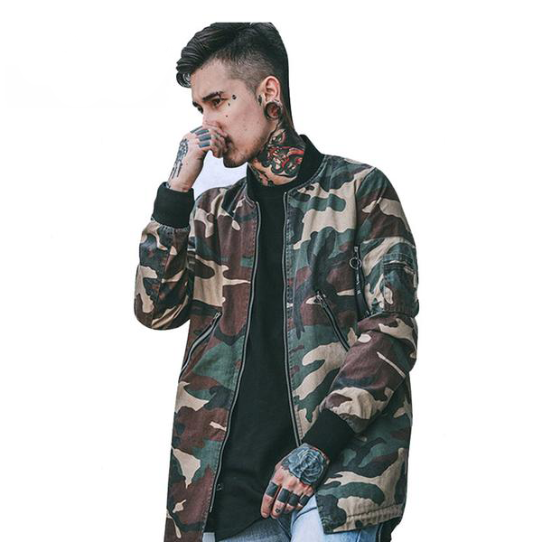 Camo Jacket Pullover Winter Jacket Men's Coat
