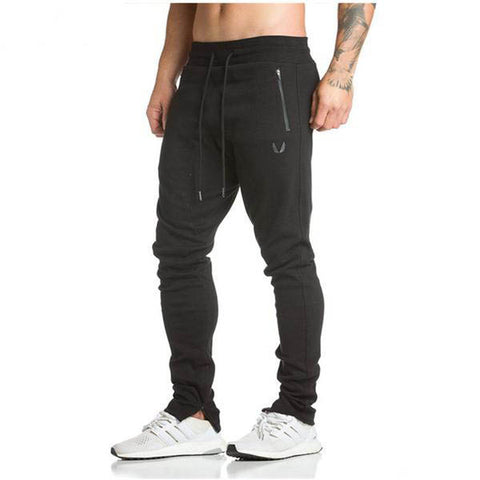 Mens Pants Casual Trouser Joggers in Black