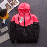Reflective Jacket Unisex Fashion Windbreaker Hooded