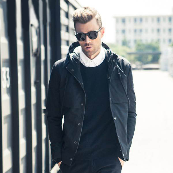 Hoody Bomber jackets men windbreaker, fashion black solid Mens coats, hoodies collar Men cool clothes WT2013