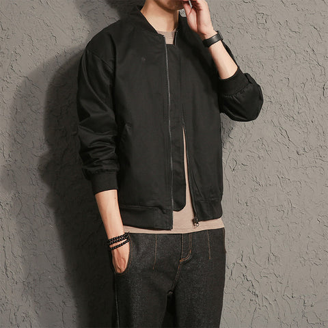 Japanese Style Men Fashion Casual Coats Mens Zipper Jacket Sportswear Bomber