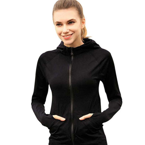 Fitness Style Zip Up Jacket For Women