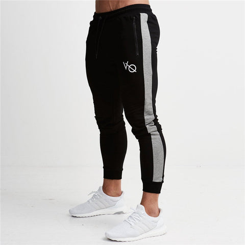 Men's Stripped Jogger Pants with Elastic Waist