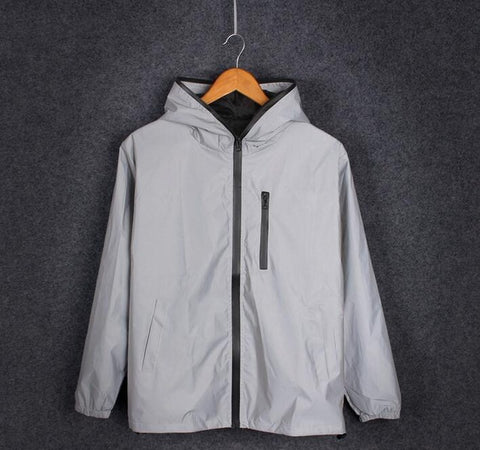 Mens DrawnByB Reflective Windbreaker Jacket