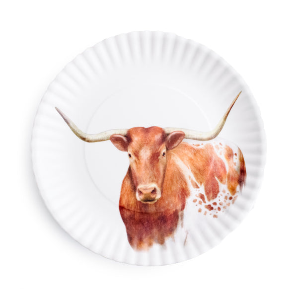 Longhorn Melamine Plate - The Pioneer Woman Mercantile