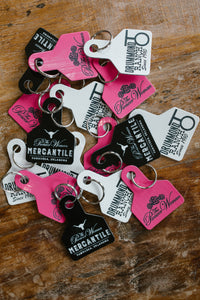 White Drummond Ranch Keychain