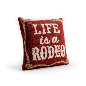 Life is a Rodeo Pillow