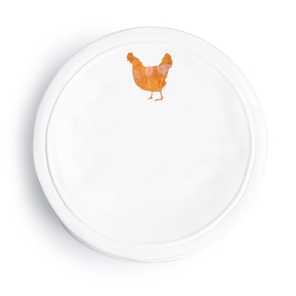 Ceramic Chicken Plate