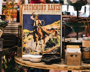 """Drummond Ranch"" Wood Sign"