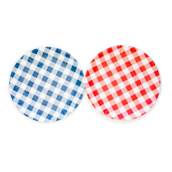 "Gingham ""Paper"" Plates - The Pioneer Woman Mercantile"
