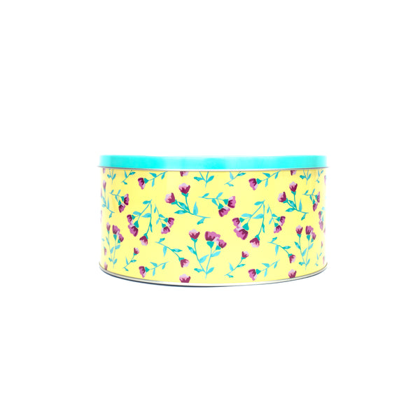 Yellow Ditsy Cake Tin