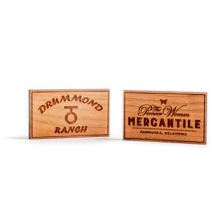 Square Drummond Ranch Wooden Magnet