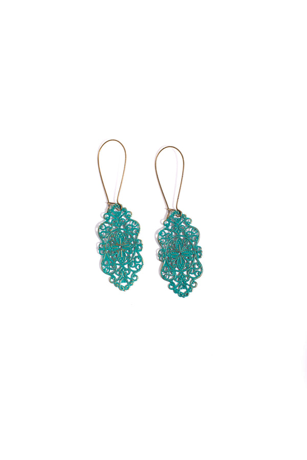 Teal Loverly Earrings