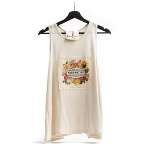 Mercantile Patch Oatmeal Tank Top