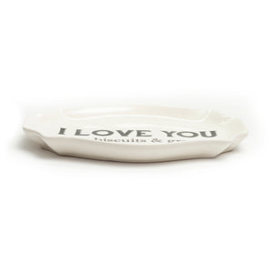 I Love You Like Biscuits and Gravy Stoneware Plate