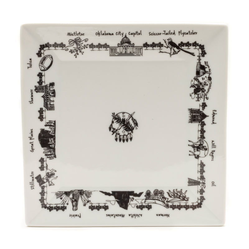 Oklahoma Large Square Platter - The Pioneer Woman Mercantile