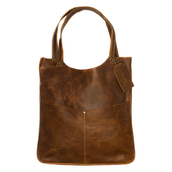 The Pioneer Woman Chocolate Leather Tote - The Pioneer Woman Mercantile