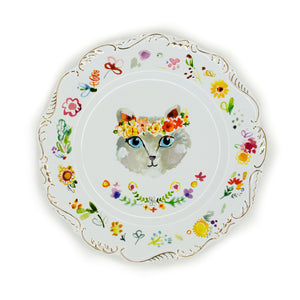 Floral Cat Plates - The Pioneer Woman Mercantile