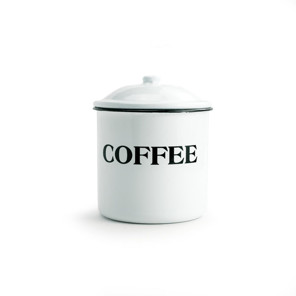 Enameled Metal Coffee Container