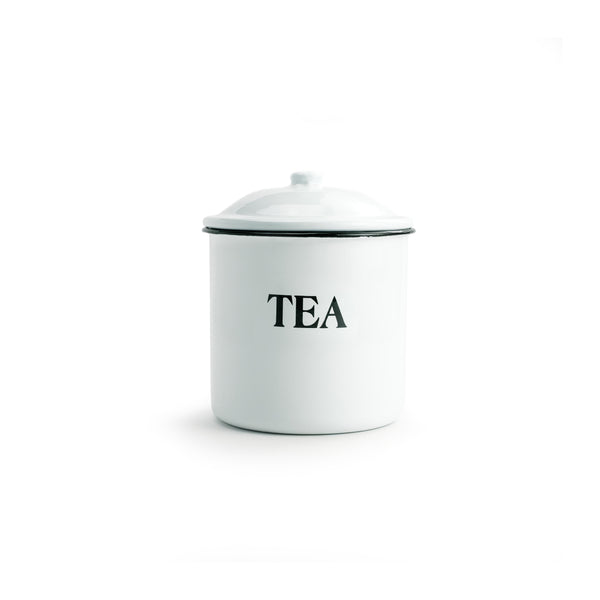 Enameled Metal Tea Container