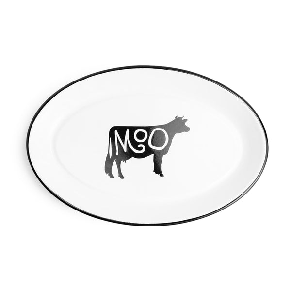 Farm Animal Enameled Tray
