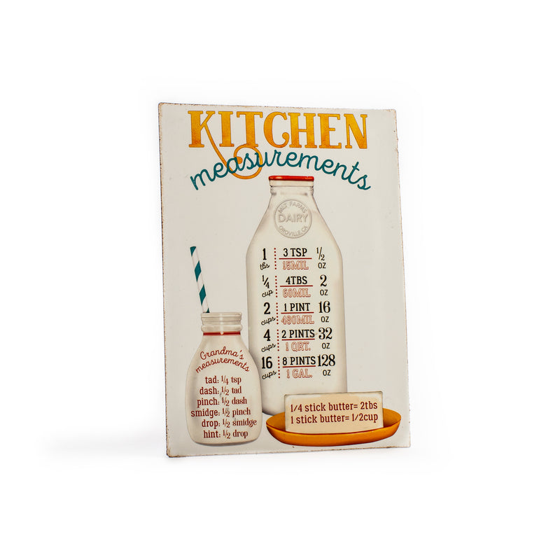 Kitchen Measurements Tin Magnet