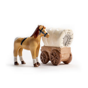 Horse and Wagon Salt and Pepper Shaker