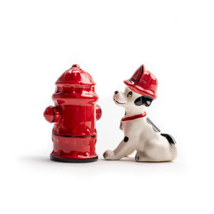 Fire Fighter Puppy Salt and Pepper Shaker