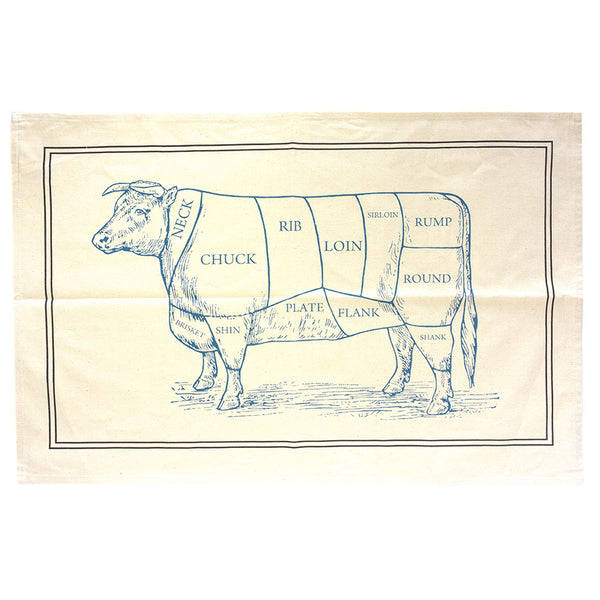 Butcher's Cut Beef Classic Tea Towel