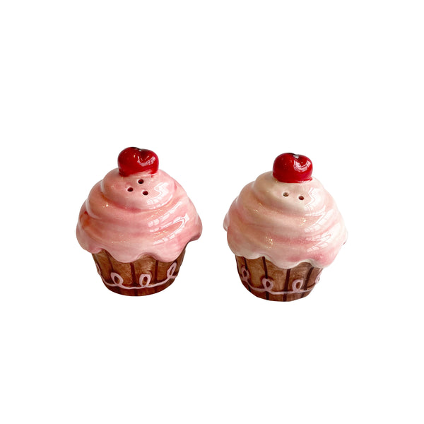 Pink Cupcake Salt & Pepper Shakers