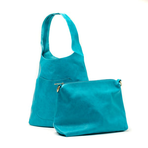 Dark Turquoise Molly Slouchy Hobo Handbag - The Pioneer Woman Mercantile