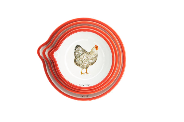 Nested Chicken Measuring Cups - The Pioneer Woman Mercantile