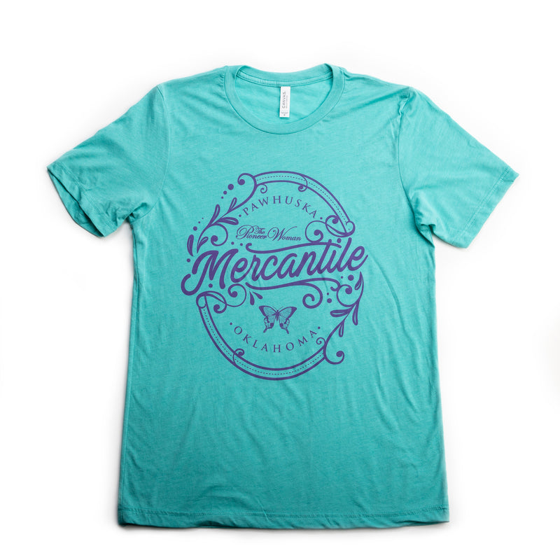 Sea Green and Lavender Oval Merc Tee