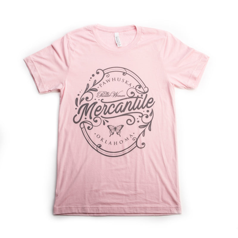 Pink Triblend Oval Merc Tee