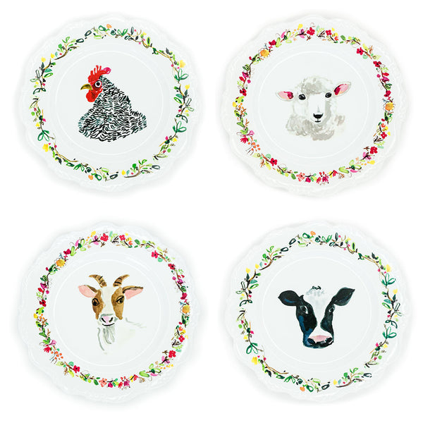 Farm Scalloped Melamine Plates - The Pioneer Woman Mercantile
