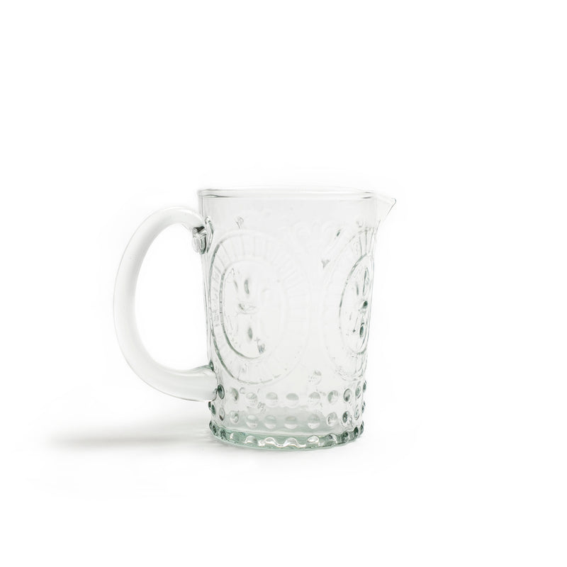 Embossed Glass Creamer