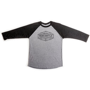 Vintage Black & Heather Grey Merc Baseball Tee