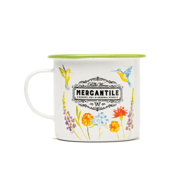 Green Hummingbird Mercantile Mug