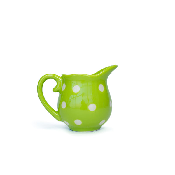 Polka Dot Stoneware Green Creamer - The Pioneer Woman Mercantile