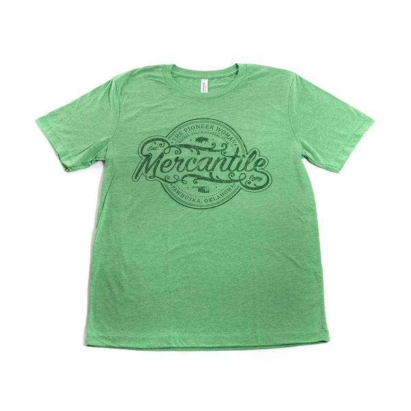 Green Tri-blend Oval Merc Logo Shirt - The Pioneer Woman Mercantile