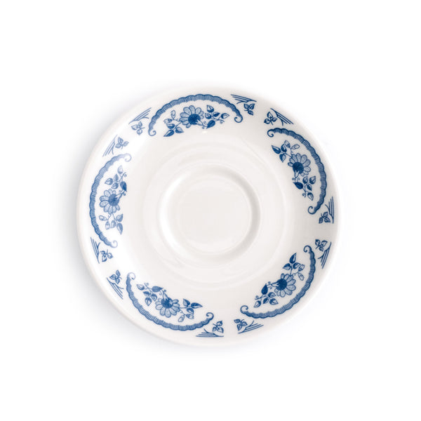 Boston American Rose Blue Saucer - The Pioneer Woman Mercantile