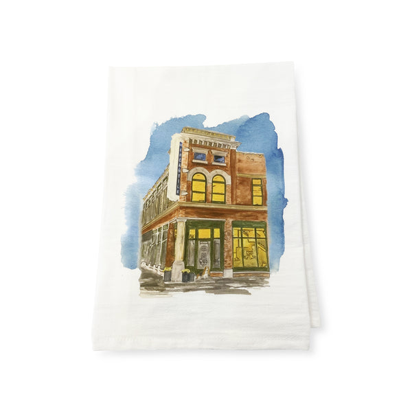 Mercantile Watercolor Tea Towel